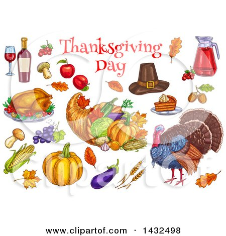 Royalty-Free (RF) Thanksgiving Day Clipart, Illustrations, Vector ...
