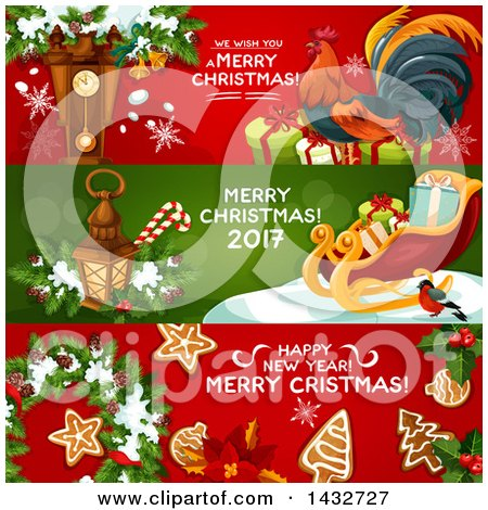 Clipart of Christmas Website Banner Headers - Royalty Free Vector Illustration by Vector Tradition SM