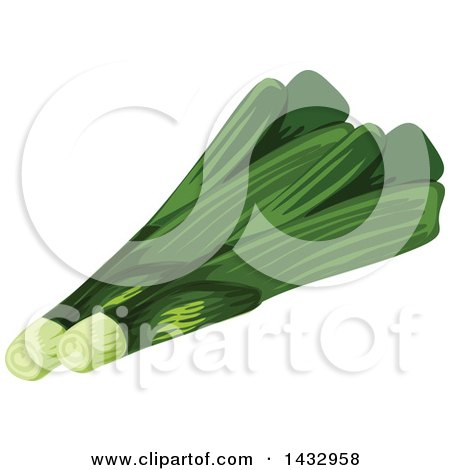 Clipart of Leeks - Royalty Free Vector Illustration by Vector Tradition SM