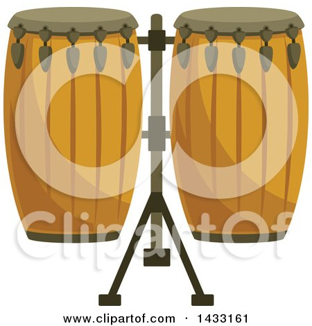 Clipart of Conga Drums - Royalty Free Vector Illustration by Vector Tradition SM