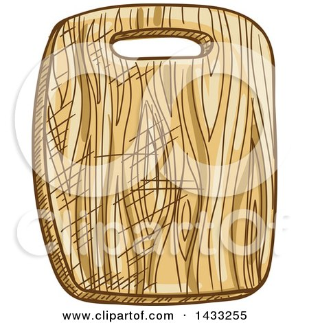 Clipart of a Sketched Cutting Board - Royalty Free Vector Illustration by Vector Tradition SM