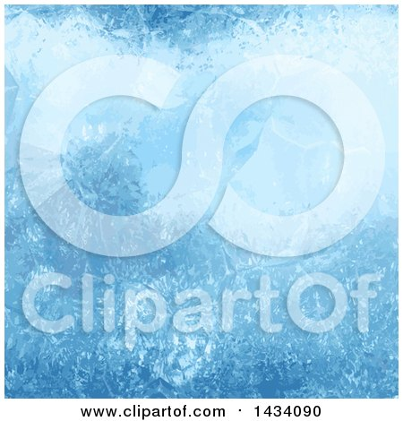Clipart of a Blue Ice Background - Royalty Free Vector Illustration by KJ Pargeter