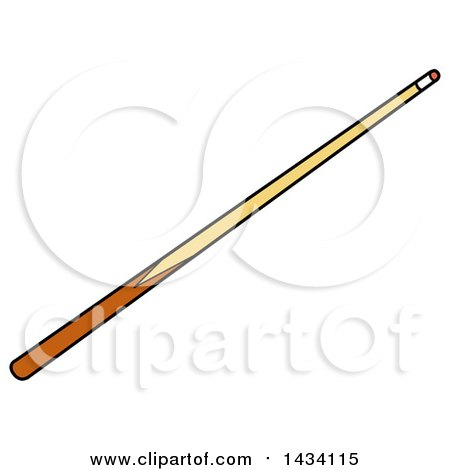 Clipart of a Cartoon Billiards Pool Cue Stick - Royalty Free Vector Illustration by LaffToon