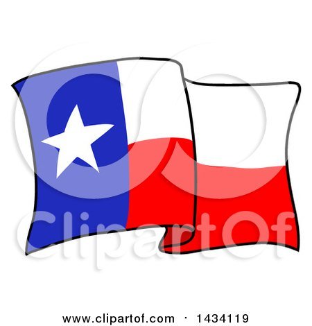 clipart of a cartoon waving texas flag royalty free vector rh clipartof com texas flag vector art waving texas flag vector art