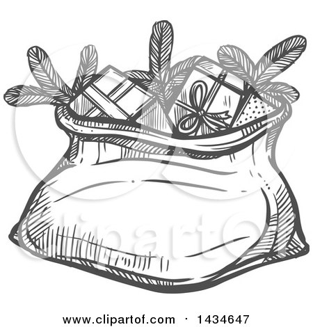 Royalty-Free (RF) Santa Sack Clipart, Illustrations, Vector ...