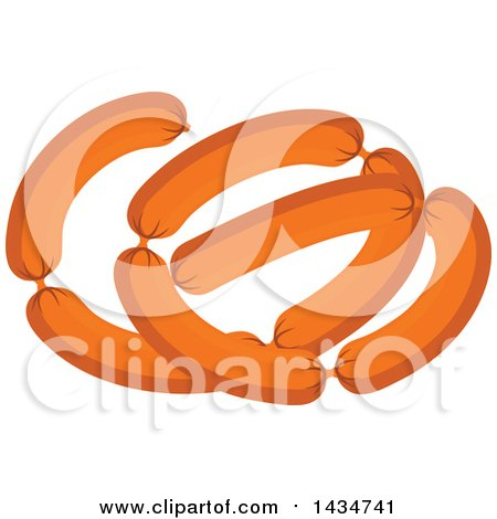 Clipart of Sausage Links - Royalty Free Vector Illustration by Vector Tradition SM