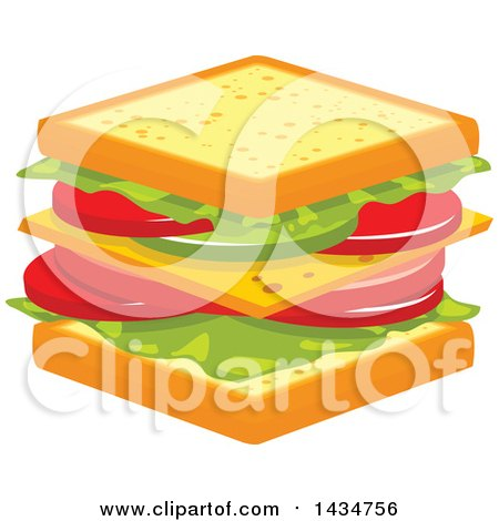 Clipart Happy Cheese Sandwich - Royalty Free Vector Illustration ...