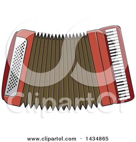 Clipart of a Musical Accordion - Royalty Free Vector Illustration by Lal Perera