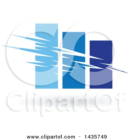 Clipart of a Blue Bar Graph - Royalty Free Vector Illustration by cidepix