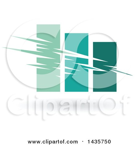 Clipart of a Green Bar Graph - Royalty Free Vector Illustration by cidepix