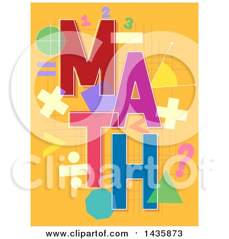 Clipart of a Math Design with Shapes and Symbols - Royalty Free Vector Illustration by BNP Design Studio
