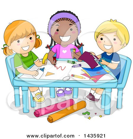 Royalty-Free (RF) Clipart Illustration of a Little School ...