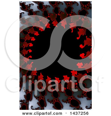 Clipart of a Red, White, Gray and Black Fractal Background - Royalty Free Illustration by oboy