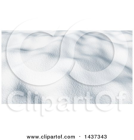 Clipart of a Background of 3d Snow on the Ground - Royalty Free Illustration by KJ Pargeter