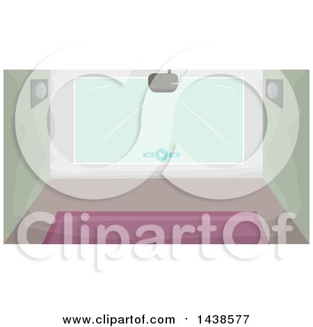 Clipart of a Projector and Wall - Royalty Free Vector Illustration by BNP Design Studio