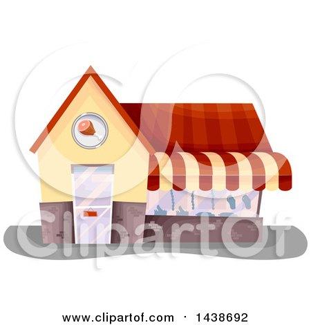 Clipart of a Butcher Shop Building - Royalty Free Vector Illustration by BNP Design Studio