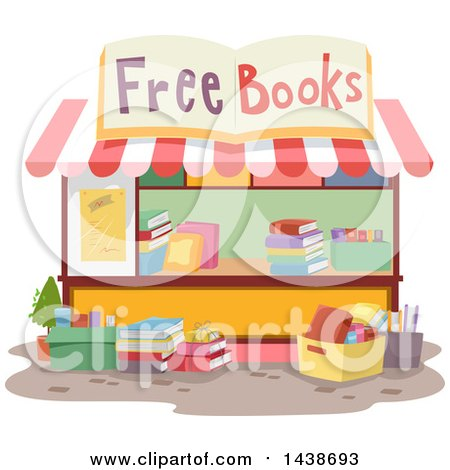 Clipart of a Free Book Stand - Royalty Free Vector Illustration by BNP Design Studio