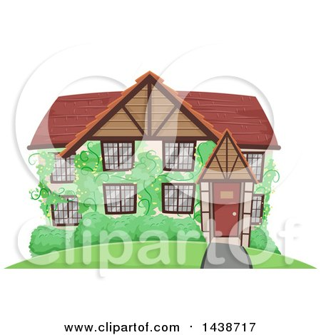 Clipart Black Swirly House Icon And Reflection