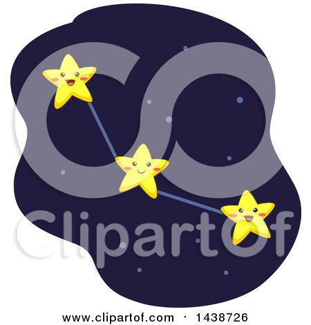 Clipart of a Constellation Formed by Interconnected Stars - Royalty Free Vector Illustration by BNP Design Studio