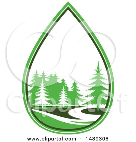 Clipart Of A Go Green Or Landscaping Design Royalty Free Vector Rh Clipartof Com