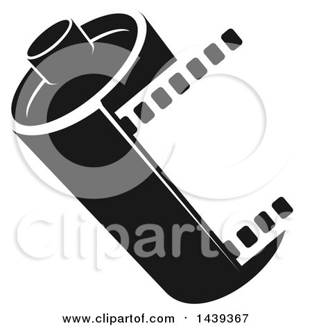 Clipart Of A Film Roll Mascot Presenting - Royalty Free Vector ...