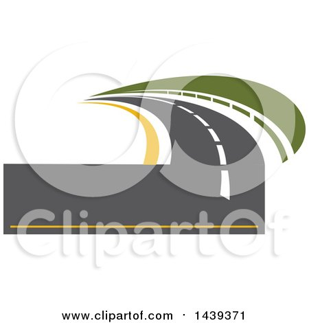 Clipart of a Highway Road Logo - Royalty Free Vector Illustration by Vector Tradition SM