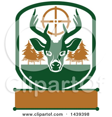 Clipart of a Buck Hunting Shield - Royalty Free Vector Illustration by Vector Tradition SM