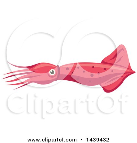 Clipart of a Pink Squid - Royalty Free Vector Illustration by Vector Tradition SM