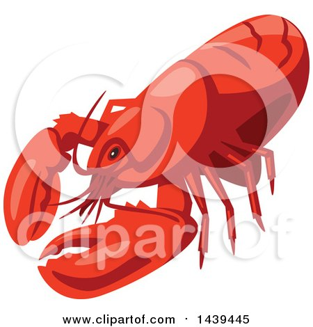 Clipart of a Lobster - Royalty Free Vector Illustration by Vector Tradition SM