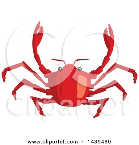 Clipart of a Crab - Royalty Free Vector Illustration by Vector Tradition SM
