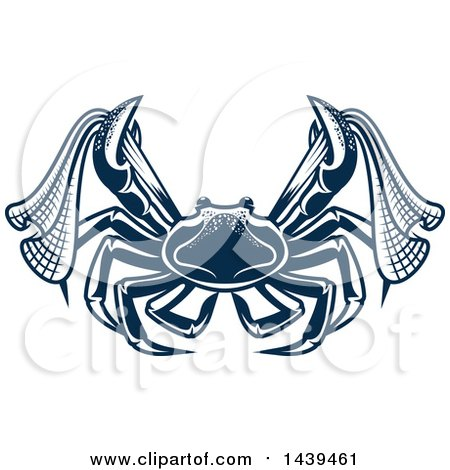 Clipart of a Navy Blue Crab with Nets - Royalty Free Vector Illustration by Vector Tradition SM