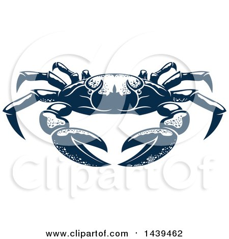 Clipart of a Navy Blue Crab - Royalty Free Vector Illustration by Vector Tradition SM