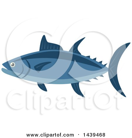 Clipart of a Tuna Fish - Royalty Free Vector Illustration by Vector Tradition SM