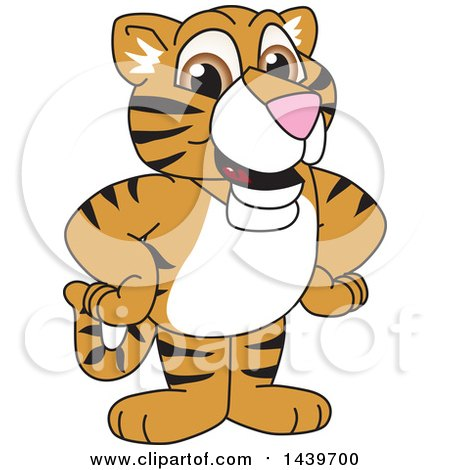 Clipart of a Tiger Cub School Mascot Character - Royalty Free Vector Illustration by Toons4Biz