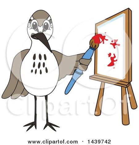 Sandpiper Bird School Mascot Character Painting Posters, Art Prints