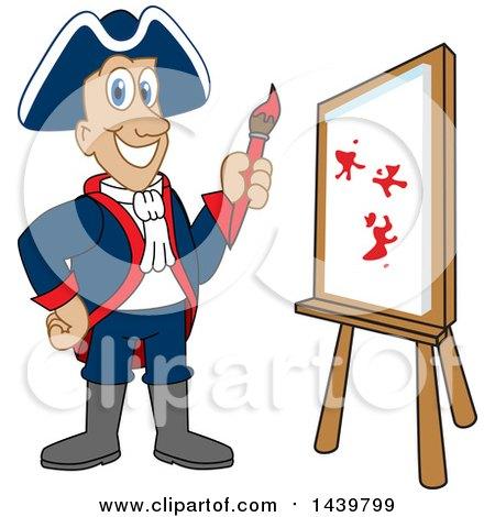 Patriot School Mascot Character Painting Posters, Art Prints