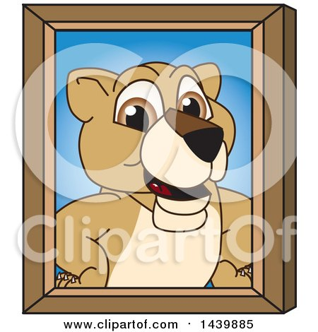 Clipart of a Lion Cub School Mascot Character Portrait - Royalty Free Vector Illustration by Toons4Biz