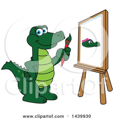 Gator School Mascot Character Painting Posters, Art Prints