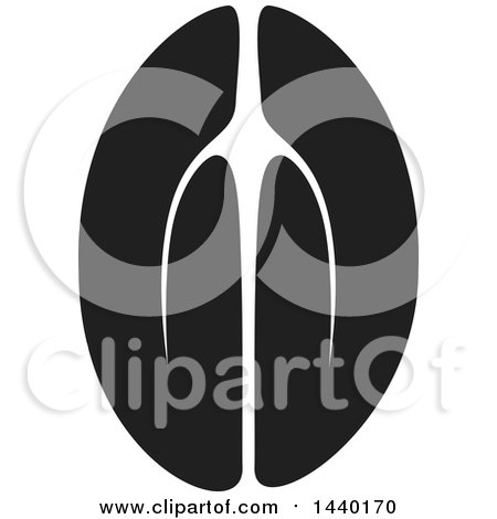 Clipart of a Black and White Pair of Prayer or Namaste Hands - Royalty Free Vector Illustration by ColorMagic