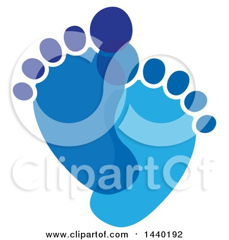 Clipart of a Pair of Blue Footprints - Royalty Free Vector Illustration by ColorMagic