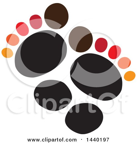 Clipart of a Pair of Footprints - Royalty Free Vector Illustration by ColorMagic