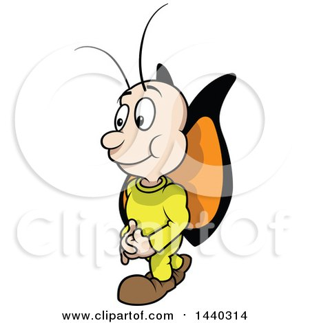 Clipart of a Cartoon Butterfly - Royalty Free Vector Illustration by dero