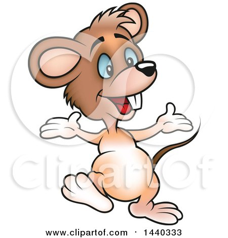 Clipart of a Cartoon Mouse - Royalty Free Vector Illustration by dero