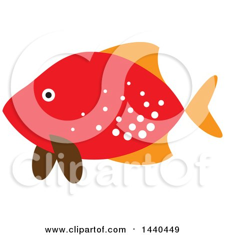 Clipart of a Red Marine Fish - Royalty Free Vector Illustration by ColorMagic