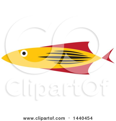 Clipart of a Marine Fish - Royalty Free Vector Illustration by ColorMagic