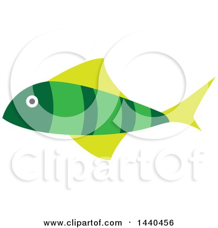 Clipart of a Green Marine Fish - Royalty Free Vector Illustration by ColorMagic