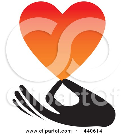 Clipart of a Hand Holding a Love Heart - Royalty Free Vector Illustration by ColorMagic