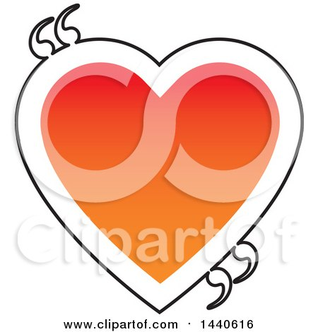 Clipart of a Love Heart with Quotation Marks - Royalty Free Vector Illustration by ColorMagic