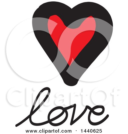 Clipart of a Love Heart with Text - Royalty Free Vector Illustration by ColorMagic