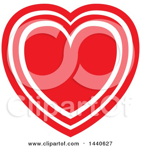 Clipart of a Love Heart - Royalty Free Vector Illustration by ColorMagic